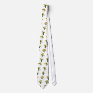A Golden Host of Embroidered Daffodils Tie