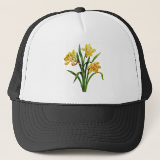 A Golden Host of Embroidered Daffodils Trucker Hat