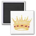 A Golden King's Crown With Jewels Fridge Magnet