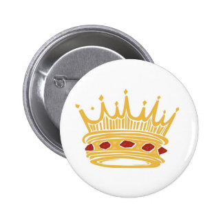 A Golden King's Crown With Jewels Pinback Button