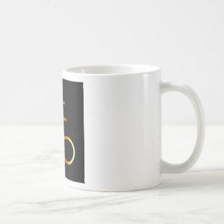 A golden Leviathan Cross or Sulfur symbol Coffee Mug