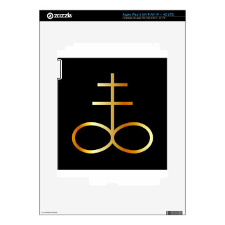 A golden Leviathan Cross or Sulfur symbol Decals For iPad 3
