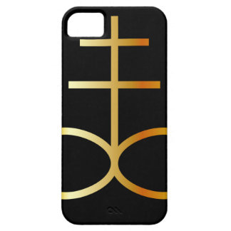 A golden Leviathan Cross or Sulfur symbol iPhone SE/5/5s Case