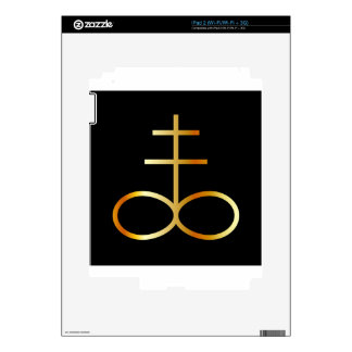 A golden Leviathan Cross or Sulfur symbol Skin For The iPad 2