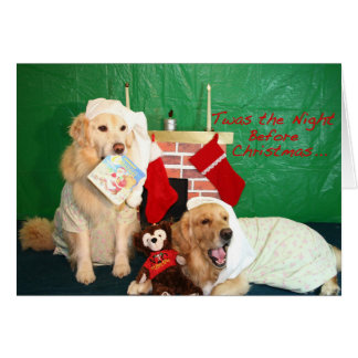 A Golden Retriever Cozy Little Christmas Greeting Card