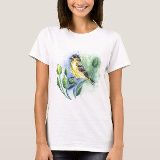 A Goldfinch female, Watercolor Pencil T-Shirt