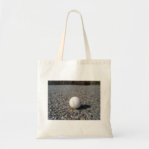 A golf Ball resting on gravel Budget Tote Bag
