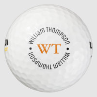 a golf ball with name (circle monogram)