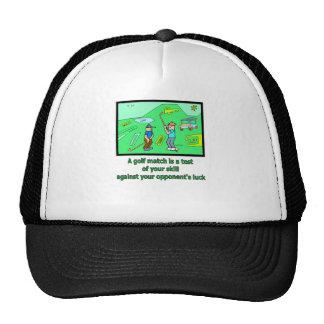 A golf match is a test trucker hat
