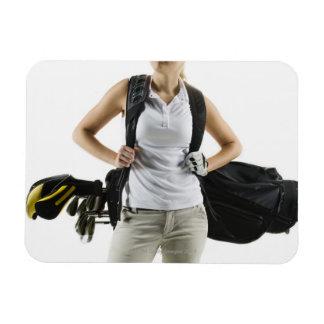A golfer 2 rectangular photo magnet