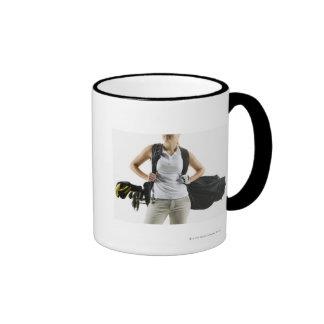A golfer 2 ringer coffee mug