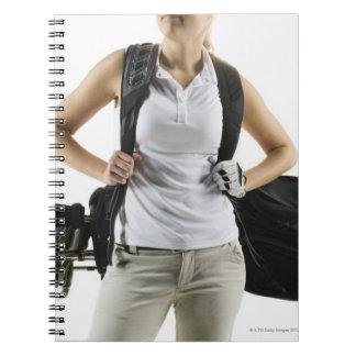 A golfer 2 spiral note book