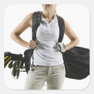 A golfer 2 square sticker