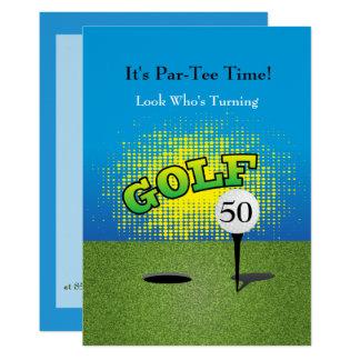 A Golfer Birthday Party Invitation