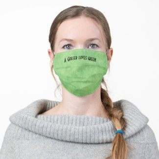A Golfer loves green with tee on green Cloth Face Mask