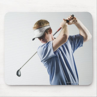 A golfer mouse pad