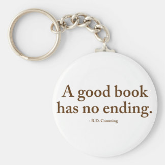 A Good Book Has No Ending Keychains
