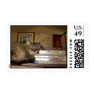 A Good Book Postage Stamp