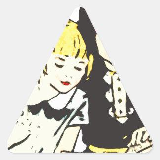A Good Book Triangle Sticker