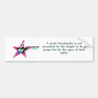 A good cheerleader is not measured by... car bumper sticker