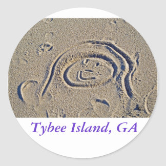 A Good Day at the Beach, Tybee Island, GA Classic Round Sticker