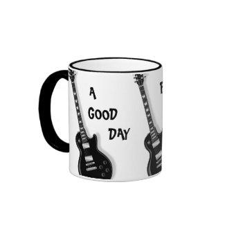 A GOOD DAY FOR THE BLUES Guitar Ceramic Mug
