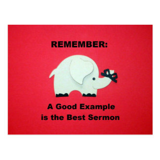 A Good Example is the Best Sermon Postcard