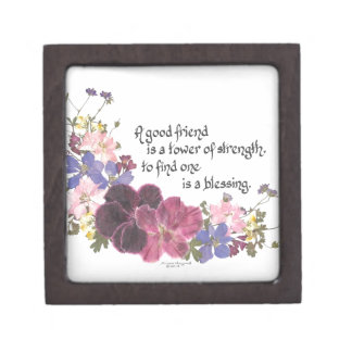 A good friend is a blessing keepsake box