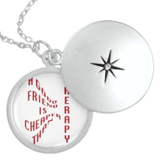 A Good Friend Is Cheaper Than Therapy Necklace Jew