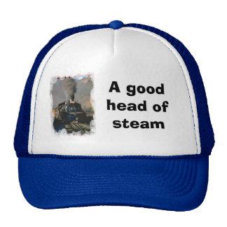 A good head of steam trucker hat