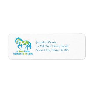A Good Horse Return Address Label