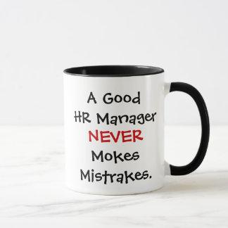 A Good HR Manager Never Mokes Mistrakes! Mug