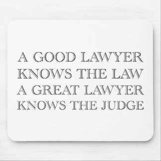 A Good Lawyer Mouse Pad