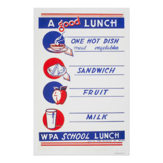 A Good Lunch Eat Well 1941 WPA Poster