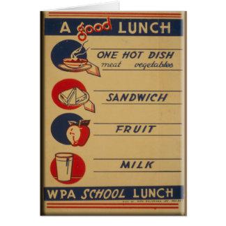 A Good School Lunch Card