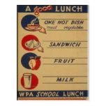 A Good School Lunch Postcard