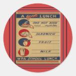 A Good School Lunch Sticker