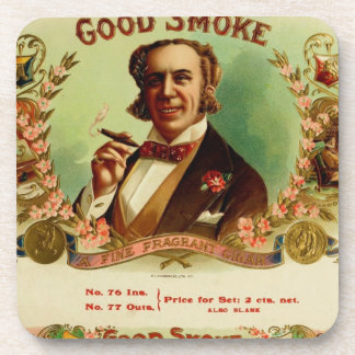 A good Smoke for the sophisticated gentleman Drink Coaster