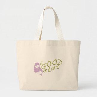 A Good Start Large Tote Bag