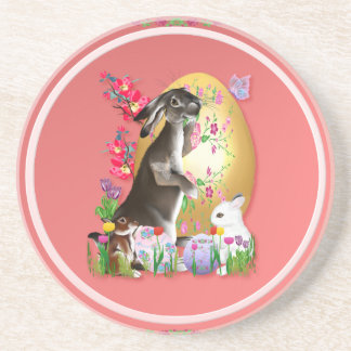 A Good Three Bunny Easter Shirts Coaster