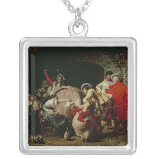 A Good Vintage Square Pendant Necklace