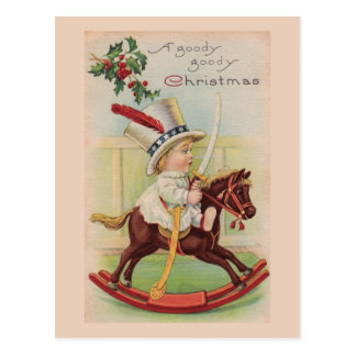 """A Goody, goody Christmas"" Vintage Postcard"