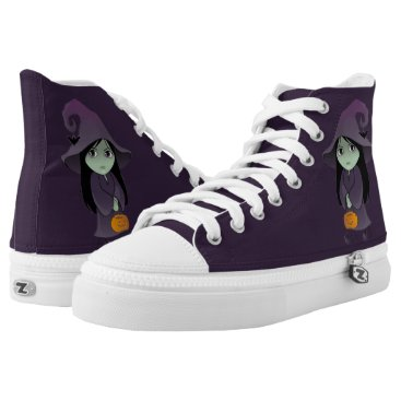 Halloween Themed A Goth Witch High-Top Sneakers