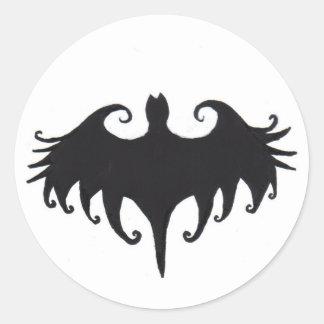 a gothic bat classic round sticker