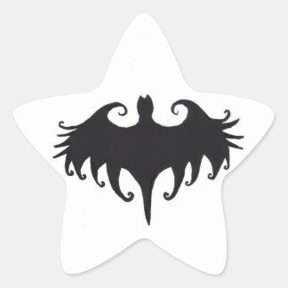 a gothic bat star sticker