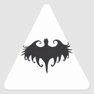 a gothic bat triangle sticker