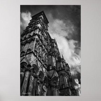 A Gothic Facade, Fine Art Photography Poster