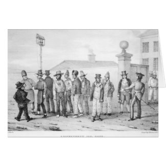 A Government Jail Gang Greeting Card