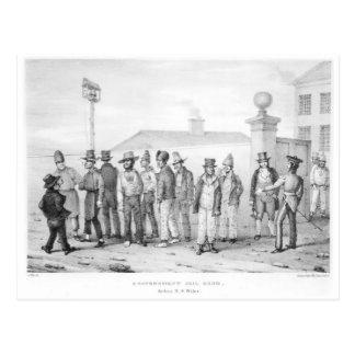 A Government Jail Gang Postcard