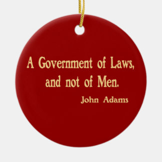 A Government of Laws Ornament
